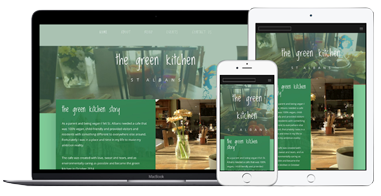 The Green Kitchen Website Mobile