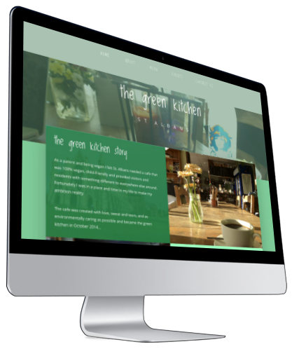The Green Kitchen Website iMac