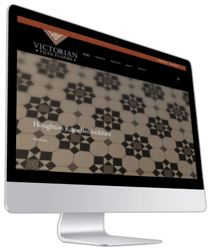 Victorian Tiled Floors Website iMac