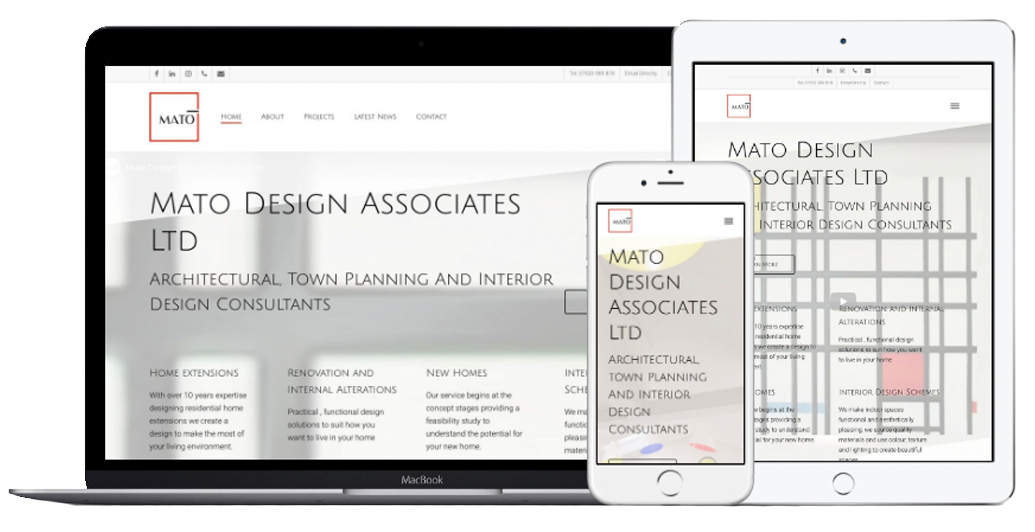 Mato Design Associates Ltd Website Mobile