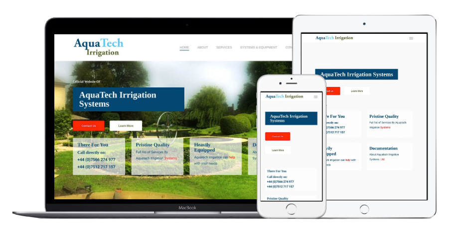 Aquatech Irrigation Systems Website Mobile