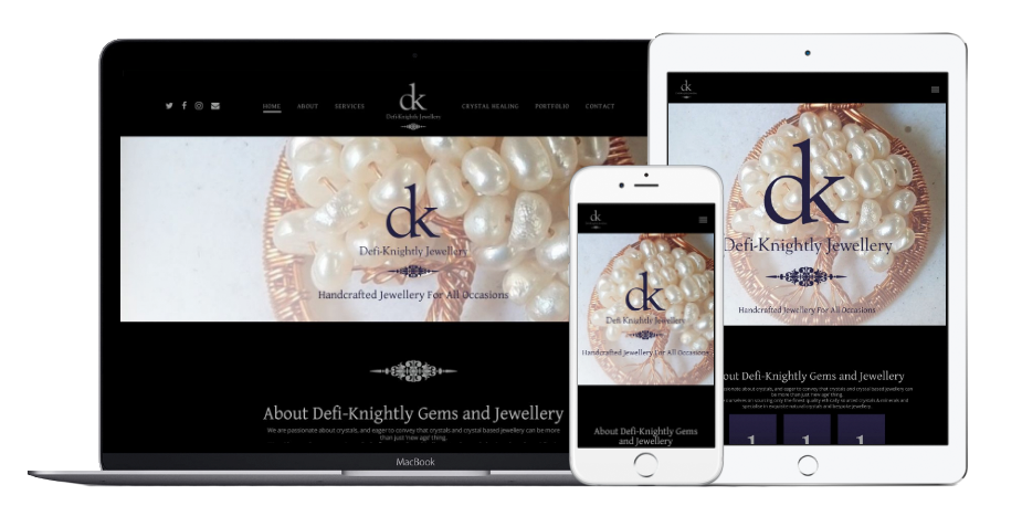 Defi Knightly Gems and Jewellery Website Mobile
