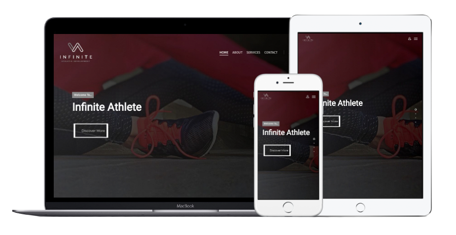 Infinite Athletic Development Website Mobile