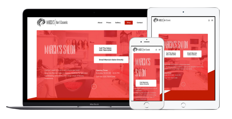 Marcia's Hair and Cosmetic Website Mobile