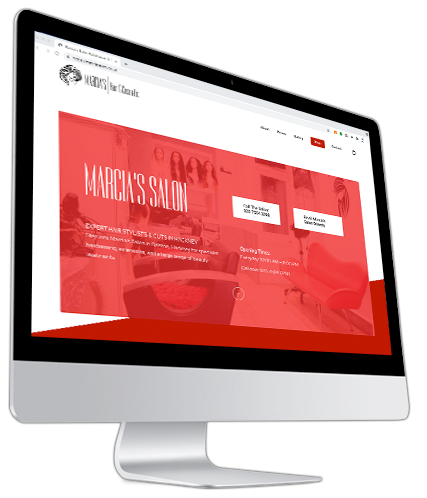 Marcia's Hair and Cosmetic Website iMac